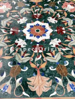 Buy Luxury Green Octagon Pietra Dura Center Marble Table Top with inlay Work At RespectOrigins.com