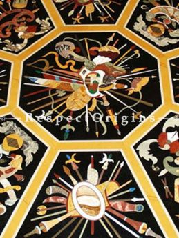 Buy Luxury Black Spectacular Art of Neapolitan Pietra Dura Marble Octagon inlay Table Top Hand Carved With Marble inlay Dining Table Top At RespectOriigns.com