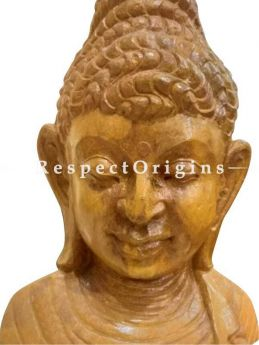 Buy Buddhas Bust hand-carved in Soft Stone. 16 inches Online at RespectOrigins.com
