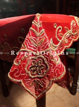 Buy Extra Large Table Cover, Handcrafted, Net, Beadwork 86x40 in At RespectOrigins.com