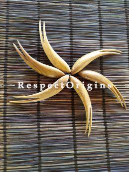 Set of 10 Hand Carved Wooden Fruit Fork, RespectOrigins