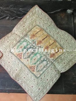Buy Set of 2 Embroidered Shah Kashmiri Silk Square Cushion Cover At RespectOrigins.com