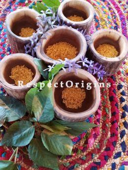 Handcraftedd Wooden Dry fruit or Snack Bowl Set of 6, RespectOrigins