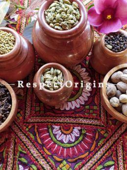 Set of 6 Handcrafted Wooden Dry fruit or Snack Bowl-RespectOrigins