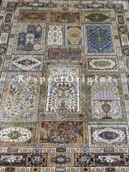 Buy Pure Silk Kashmiri Carpet Maroon 3x5 Ft; Qum, At RespectOriigns.com