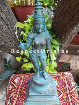 Buy Stately original Bronze Statue of Chandikeswaran; Bronze; 18 Inches At RespectOrigins.com