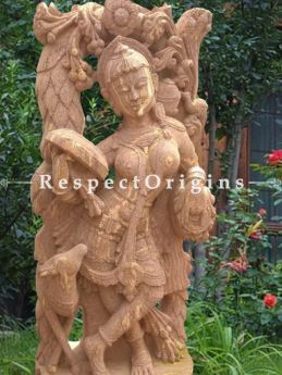 Buy Exotic Masterpiece Devadasi in Stone For Poolside or Garden; 6 Feet At RespectOriigns.com