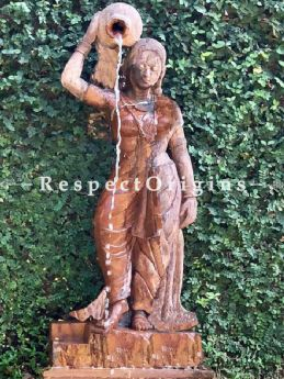 Buy Stunning Stone Outdoor Fountain Water Lady. This is a Series of Statues; 6 Feet At RespectOriigns.com