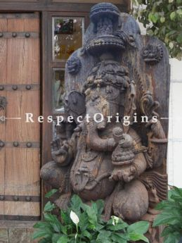 Buy Superbly Carved Soft Pink Stone Ganesha Statue for entranceways; 6 Feet At RespectOriigns.com
