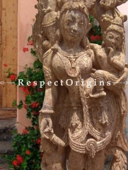 Buy Aesthetic Devadasi Stone Statue; 6 Feet At RespectOriigns.com