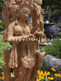 Buy Mysterious Girl- Carved Devadasi Stone Statue For Poolside; 6 Feet At RespectOriigns.com