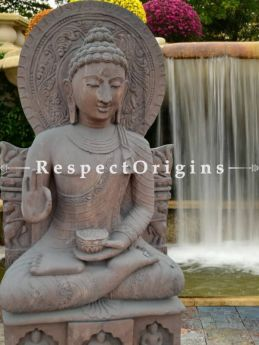 Buy Divine Abhaya Mudra Buddha Stone Statue for indoor or Outdoor; 5 Feet At RespectOriigns.com