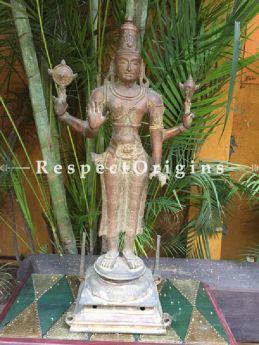 Buy Collectors Art; Bronze Narayana or Vishnu Statue from Tamil Nadu At RespectOriigns.com