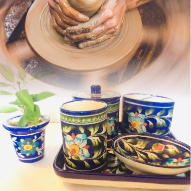 Rare Black Pottery Serveware