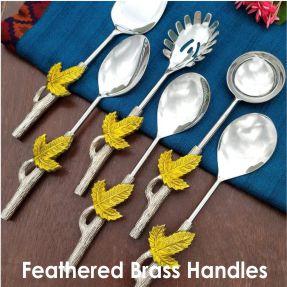 Brass Handled Serveware